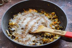 Овощное рагу с рисом и баклажанами - фото шаг 7