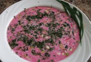 Свекольный суп с кефиром - фото шаг 8