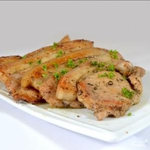 Свиная корейка на сковороде - фото шаг 5