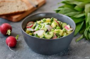 Постный салат с черемшой - фото шаг 6