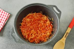 Капуста с томатной пастой на зиму - фото шаг 6