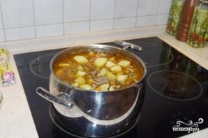 Картошка, тушенная с мясом и грибами - фото шаг 6