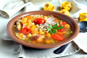 Суп по-крестьянски с белой фасолью - фото шаг 7