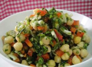 Салат из нута и перца - фото шаг 5