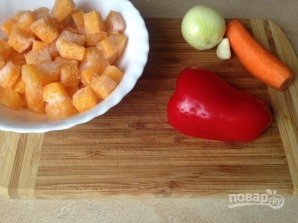 Тыквенный суп с нутом - фото шаг 3