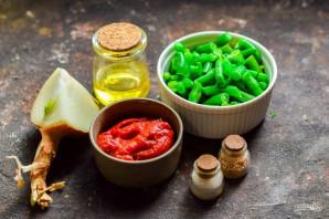 Стручковая фасоль в томатном соусе - фото шаг 1