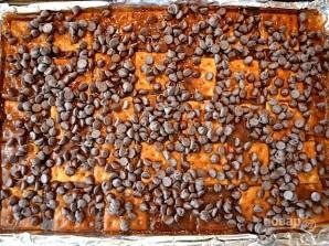 Десерт из крекеров с шоколадом - фото шаг 7
