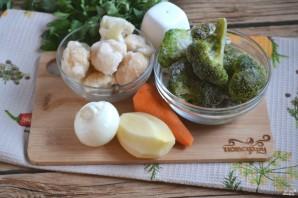 Суп-пюре из брокколи и цветной капусты - фото шаг 1