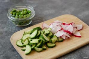 Постный салат с черемшой - фото шаг 3