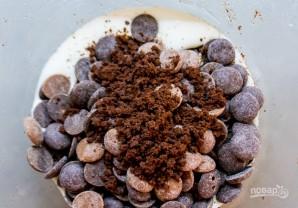 Кофейный чизкейк с шоколадным ганашем - фото шаг 3