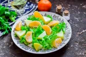 Салат с креветками и мандаринами - фото шаг 4