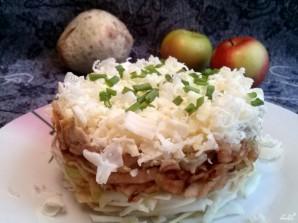 Салат с сельдереем и яблоком - фото шаг 7