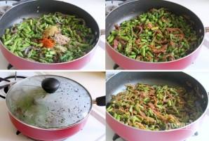 Тушеная спаржа с овощами - фото шаг 4