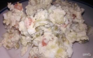 Мясной салат с индейкой - фото шаг 8