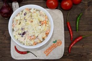 Теплый салат с кальмарами - фото шаг 7