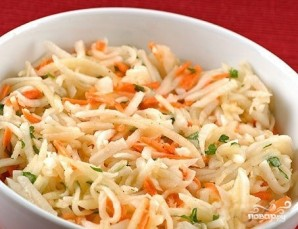 Морковь по-корейски с капустой - фото шаг 8