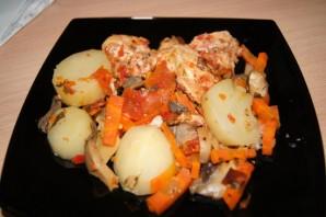 Курица с овощами в скороварке - фото шаг 5