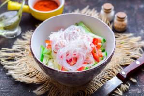 Салат из фунчозы и капусты - фото шаг 5
