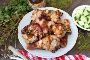 Шашлык из курицы с кинзой