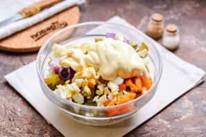 Мясной салат на Новый год - фото шаг 7