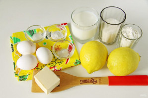Лимонный пирог от Юлии Высоцкой - фото шаг 1