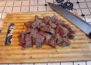 Теплый салат с говядиной - фото шаг 4
