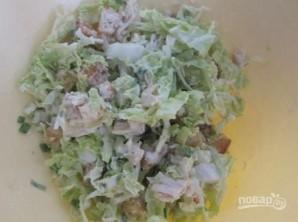 Салат из пекинской капусты и курицы - фото шаг 5