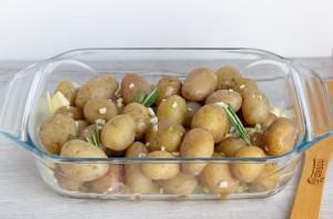 Печеная молодая картошка - фото шаг 4