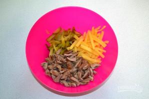Салат с сердцем и сыром - фото шаг 6