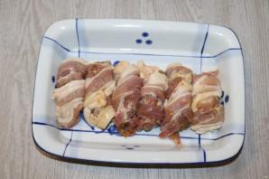 Печень в беконе в духовке - фото шаг 7