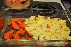 Красная рыба с овощами в духовке - фото шаг 5