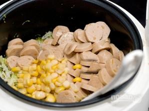 Рисовая запеканка с сосисками - фото шаг 4