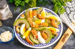 Салат с раковыми шейками и авокадо - фото шаг 5