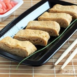 Японский омлет с соевым соусом - фото шаг 7
