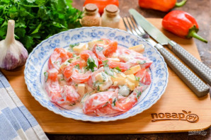 Салат с чесноком - фото шаг 7