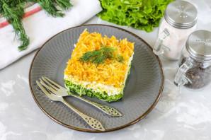 Салат с зеленым яблоком слоями - фото шаг 7