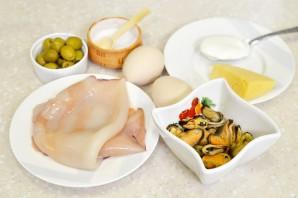 Салат из кальмаров и мидий - фото шаг 1