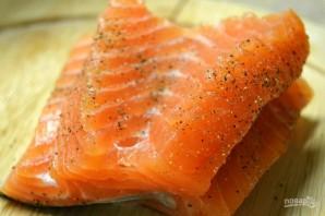 Жареная красная рыбка - фото шаг 2