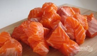 """Запеченная форель с овощами и сыром """"Камамбер"""" - фото шаг 1"""