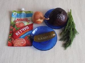 Икра из свёклы с кетчупом - фото шаг 1