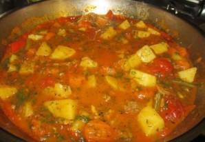 Венгерский суп в хлебе - фото шаг 4