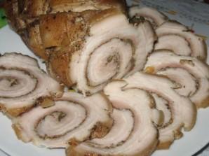 Рулет из свиной грудинки - фото шаг 3