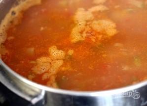 Мексиканский суп с фасолью - фото шаг 12