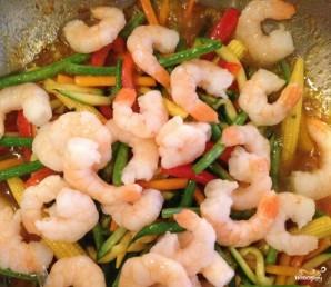 Креветки с овощами - фото шаг 4