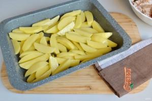 Запеченные куриные крылышки с картошкой - фото шаг 5
