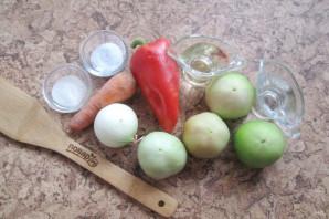 Дунайский салат из зеленых помидоров на зиму - фото шаг 1