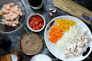 Каджунская паста с курицей - фото шаг 1