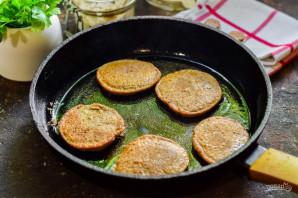 Печеночные оладьи с грибами - фото шаг 8