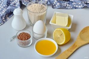 Гречневое печенье с семенами льна - фото шаг 1