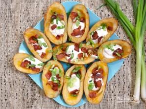 Картофель с беконом и сыром в духовке - фото шаг 9